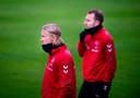 Kasper Dolberg en Christian Eriksen spelen met Denemarken tegen Zwitserland.