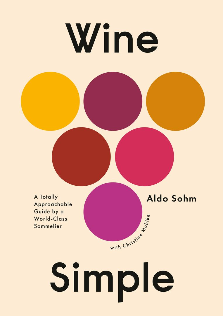 Een van de winnaars van 50 Books 50 Covers 2019: Alaina Sullivans omslag voor Aldo Sohms wijngids Wine Simple.  Beeld Penguin