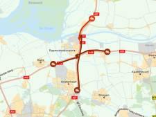 Lange file op A27 door ongeluk met vier auto's bij Oosterhout