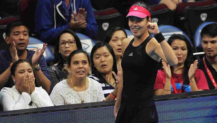 Ana Ivanovic versloeg Maria Sharapova ... in één set: 6-3.