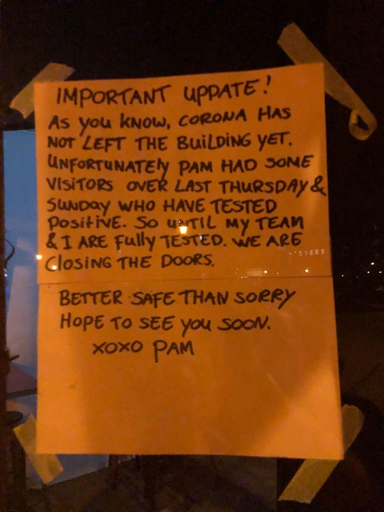 Horecazaak Pamela is gesloten. Beeld Het Parool