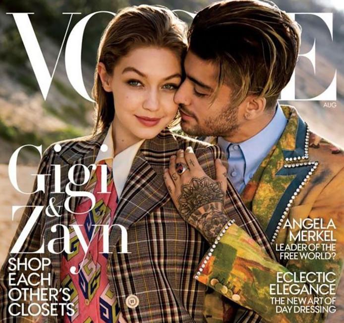 Gigi en Zayn 'winkelen in elkaars kast', aldus Vogue.
