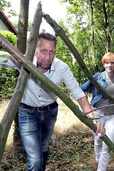Boos... om een klein stukje bos in  Hoogerheide