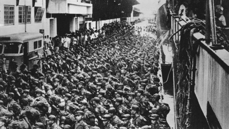 Indonesische troepentransport in 1962 © ANP Beeld