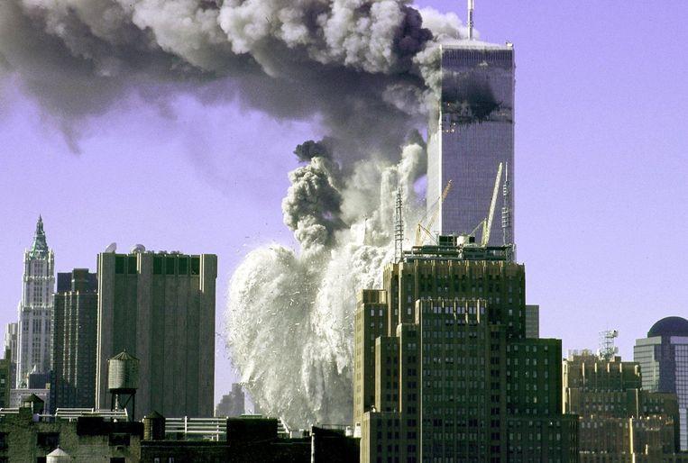 De aanslagen op het WTC in 2001 Beeld ANP