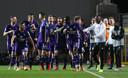 Vreugde bij de spelers van Anderlecht.