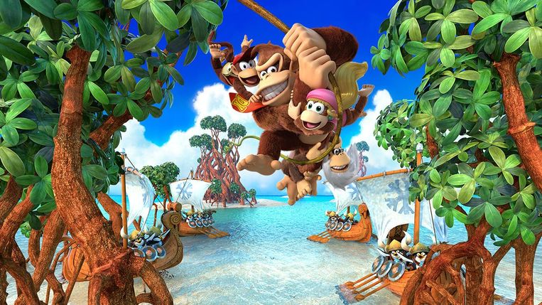 Donkey Kong Country: Tropical Freeze. Beeld null