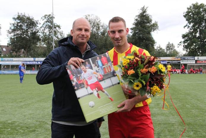 Archieffoto: Jurrian Zandbergen werd in oktober in het zonnetje gezet bij zijn 250e duel voor Go Ahead Kampen.