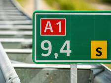 130 rijden op A1 tussen Apeldoorn en Azelo na verbreding