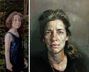 Het portret van Mila van Wilma en rechts