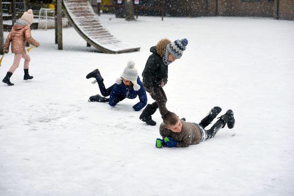 De eerste sneeuw is altijd de plezantste.