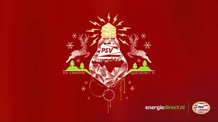Het ontwerp voor de nieuwe kersttrui van PSV.