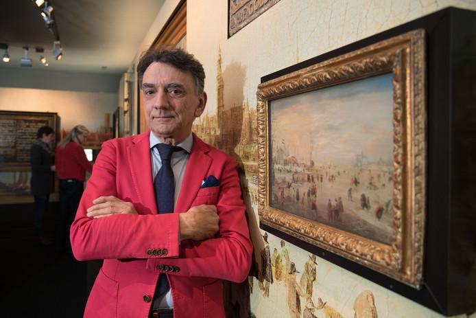 Stan Petrusa, toen hij afscheid nam als directeur van het Stedelijk Museum Kampen.