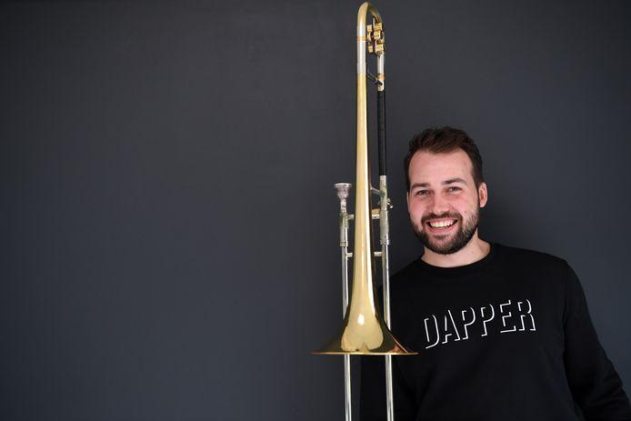 Remco de Bont is muzikant en speelt schuiftrombone.