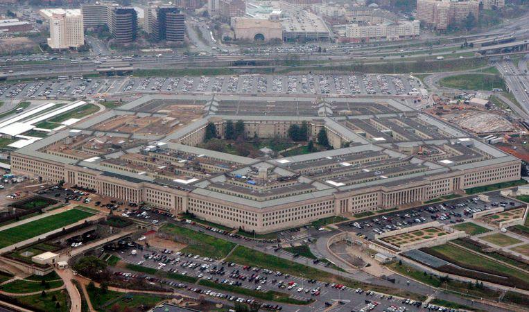 Het hoofdkantoor van het Amerikaanse ministerie van defensie, het Pentagon.  Beeld AP