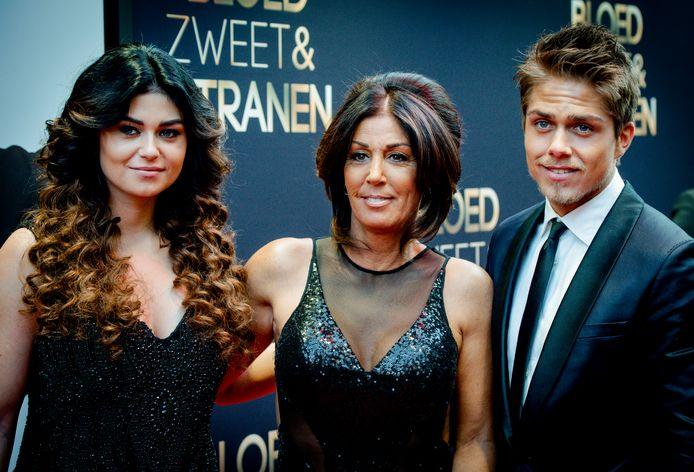 Roxeanne, Rachel en André Hazes.
