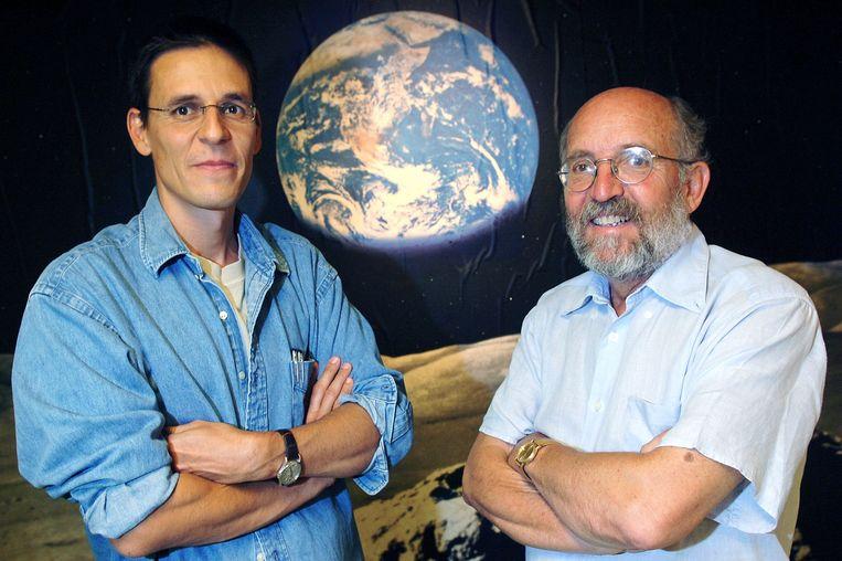 Didier Queloz en Michel Mayor ontdekten in 1995 de eerste exoplaneet. Beeld EPA