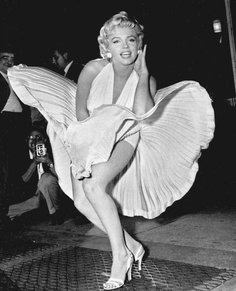 Marilyn Monroe op de set van de film The Seven Year Itch (1954). Beeld ap