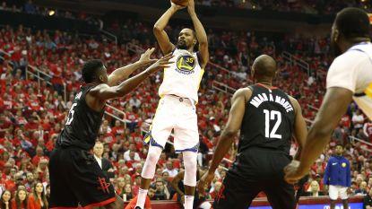 Kampioen Golden State schiet voortreffelijk uit de startblokken in finale tegen Houston, Durant blinkt uit
