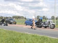 Man in scootmobiel in botsing met motor in Wamel; met spoed naar ziekenhuis