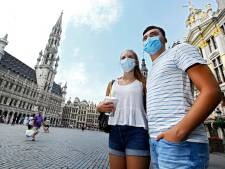 Bruxelles apparaît à son tour en orange foncé sur la carte de l'ECDC