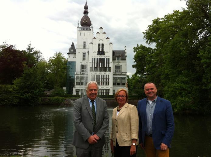 Wethouders Peter Pennings, Saskia Heijboer en Wilbert Seuren.