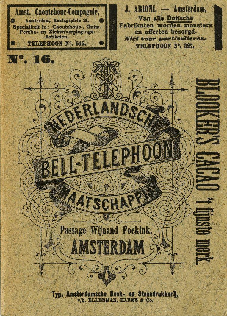 De telefoongids in 1891 met reclame Beeld NBTM