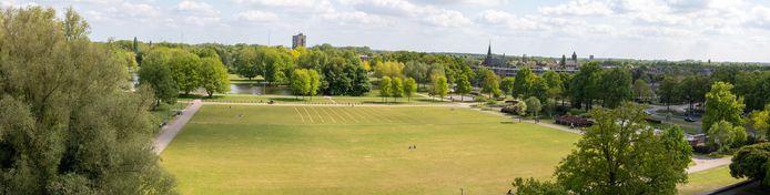 Park Wezenlanden, gefotografeerd vanuit het provinciehuis.
