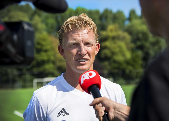 Dirk Kuyt na de training van Feyenoord Onder 19 op Varkenoord.