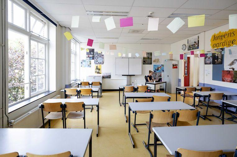 'Onderzoek in Frankrijk toont een hoog besmettingspercentage onder leerlingen en docenten en juist minder binnen het gezin.' Beeld ANP