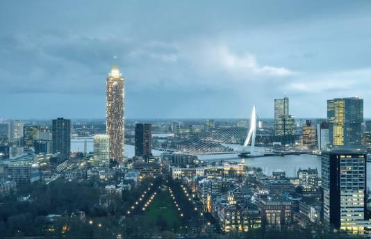 Impressie Zalmhaventoren Rotterdam