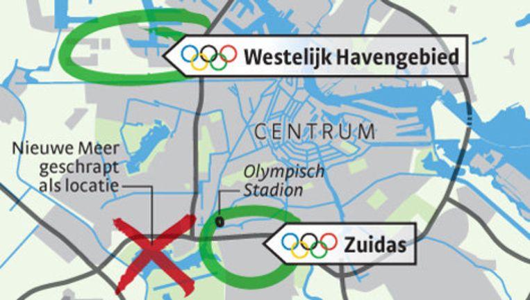 Kamer van Koophandel, MKB Amsterdam, VNO-NCW Noordwest en Oram vinden het 'belachelijk' dat voor de haven als locatie is gekozen. Illustratie Het Parool Beeld