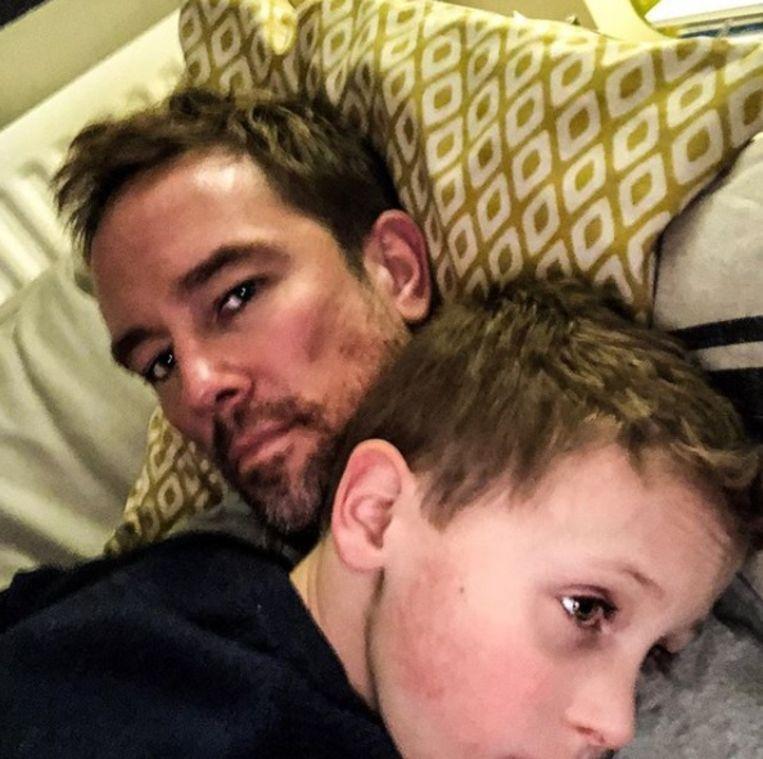 Simon en zoontje Ethan.