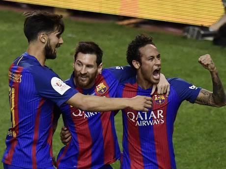 Weergaloze Messi bezorgt Luis Enrique mooi afscheidscadeau