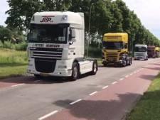 Andere route voor Truckerskonvooi, wel weer langs bejaardenhuis