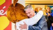 Koning Filip bezoekt UZA en viert mee 30 jaar Kom Op Tegen Kanker
