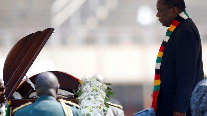 Vooral regeringsleiders, weinig Zimbabwanen op begrafenis Mugabe