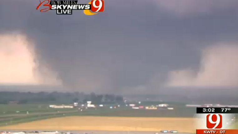 De tornado in Oklahoma Beeld ap
