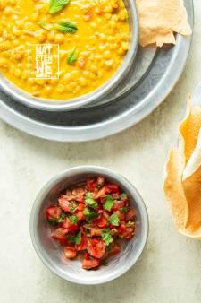 Wat Eten We Vandaag: Dahl met papadums