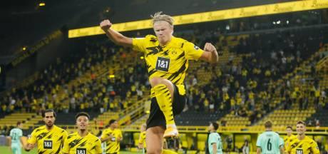 Haaland direct tweemaal trefzeker in gewonnen derby met Gladbach