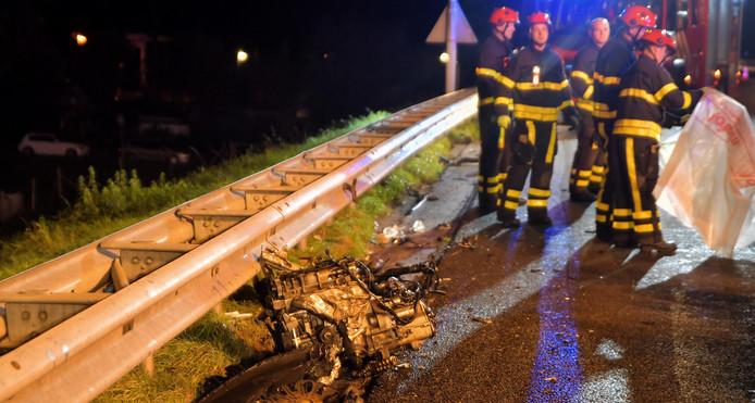 Motorblok uit auto geschoten A58 Tilburg
