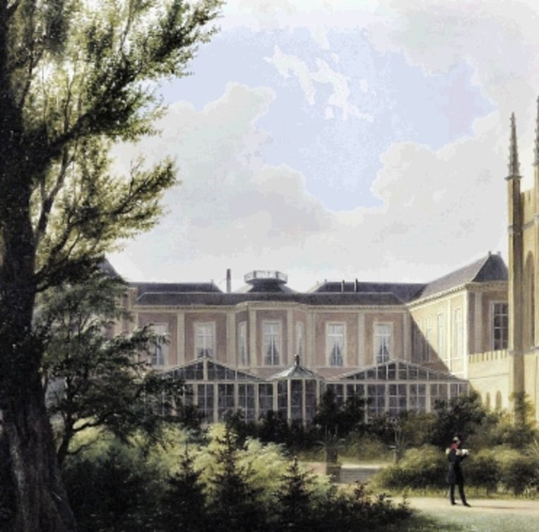 De kassen bij paleis Kneuterdijk, Den Haag. B. J. van Hove, 1842. (Trouw) Beeld