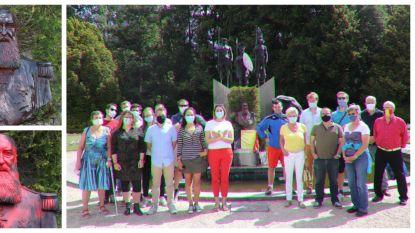 """Groep burgers maakt standbeeld van Leopold II in Tervuren schoon: """"Niet akkoord met het geweld van de voorbije weken"""""""