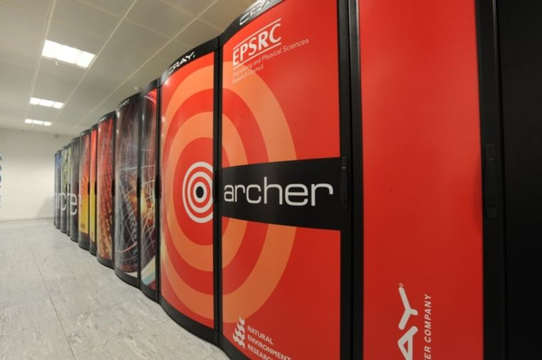 De supercomputer Archer, kort voor Advanced Research Computing High End Resource, van de univeriteit van Edinburgh.