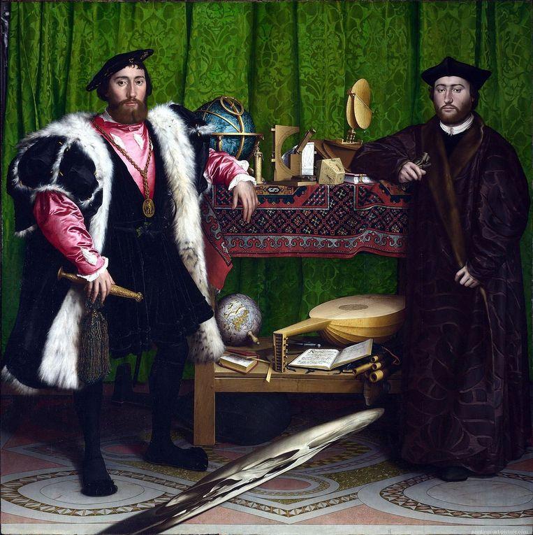 Hans Holbein de Jongere, De ambassadeurs (1533). Beeld National Gallery, Londen