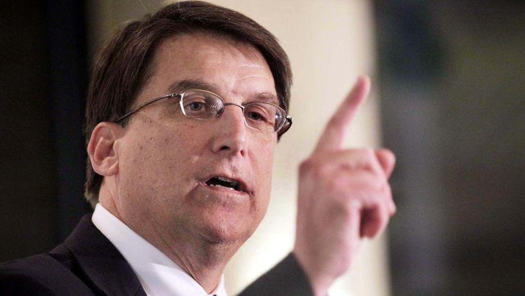 Pat McCrory, de gouverneur van North Carolina. Beeld photo_news