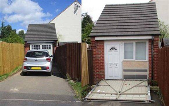 Het huis was verstopt achter een 'valse garagepoort
