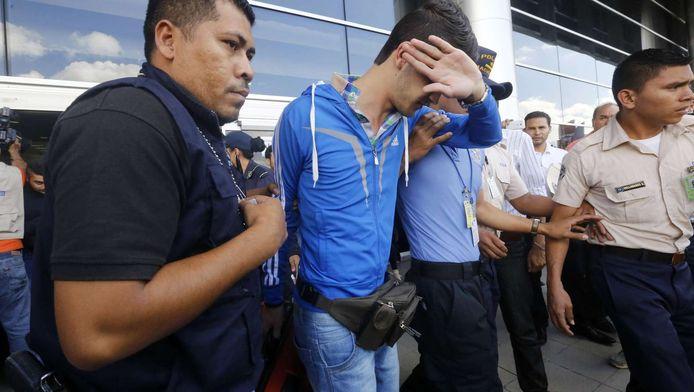 Eén van de gearresteerde Syriërs in Honduras.
