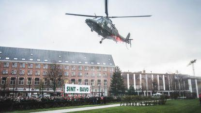 Leerlingen Sint-Bavo arriveren op school per helikopter