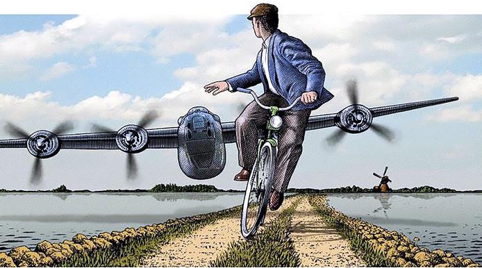 Piloot Haynes Baumgardner vliegt met Liberator bommenwerper laag over het West-Brabantse land in september 1944.